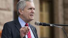U.S. Rep. Lloyd Doggett speaks during Cover Texas Now! rally at the State Capitol in Austin, Monday, March. 6, 2017. The event was to show support for the Affordable Care Act and convince elected officials healthcare is a right for everyone. (Stephen Spillman for Express-News)