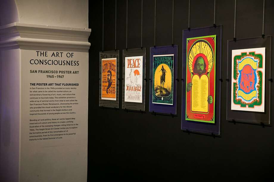Psychedelic poster exhibit, The Art of Consciousness, opens on Saturday, July 1, at the Haight Street Art Center in San Francisco, Calif. Photo: Mason Trinca, Special To The Chronicle