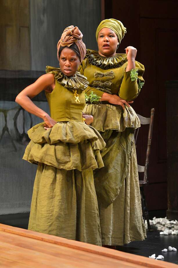 "Afi Bijou (left) as Minnie and Jasmine Bracey as Dido in ""An Octoroon"" at Berkeley Rep. Photo: Kevin Berne, Berkeley Repertory Theatre"