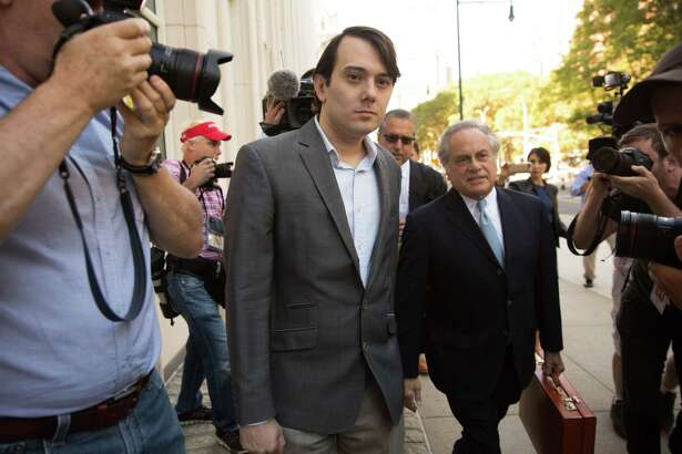 BROOKLYN, NY - Monday, June 26, 2017: Martin Shkreli arrives at Brooklyn Federal Court on the first day of his securities fraud trial on June 26, 2017 in Brooklyn, New York. (Photo by Kevin Hagen/Getty Images) ORG XMIT: 700069675