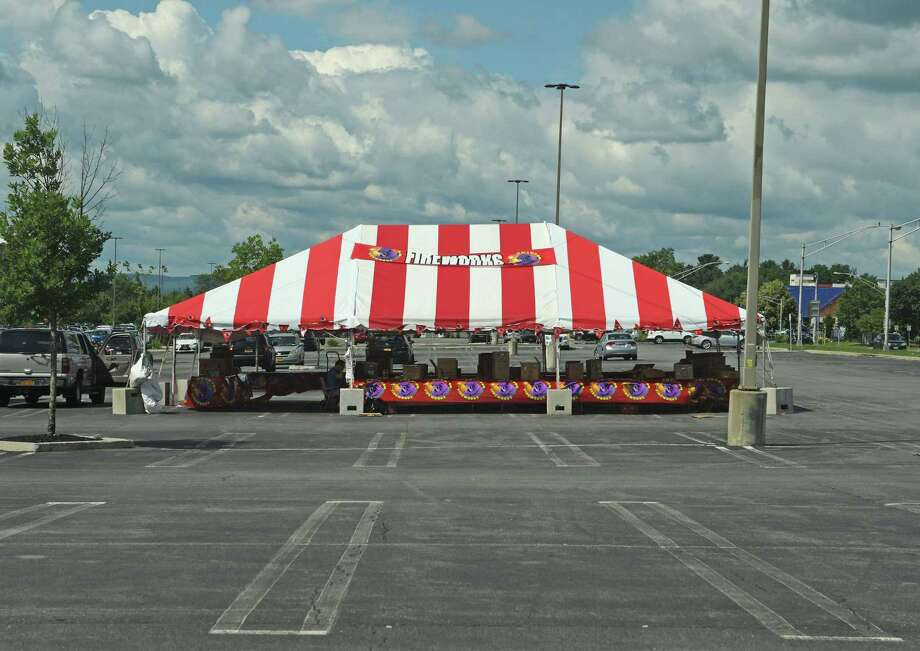 A view of a tent where fireworks are being sold off of Wolf Road, on Monday, June 26, 2017, in Albany, N.Y.  (Paul Buckowski / Times Union) Photo: PAUL BUCKOWSKI / 20040894A