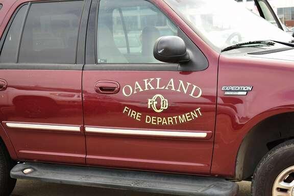 An Oakland Fire Department vehicle.