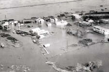 Hurricane Audrey took a heavy toll on the land and its inhabitants.