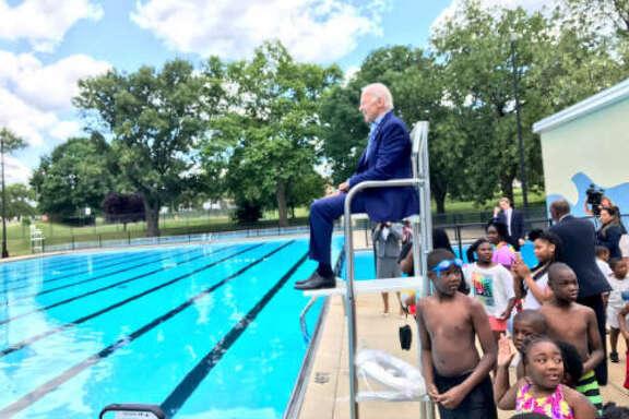 Social media users saw Joe Biden in a lifeguard chair and went gaga.