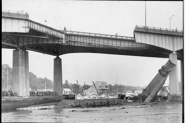 Mianus River Bridge Collapse - July 17, 1983 - Photo/Marilyn A. Hogarty b/w