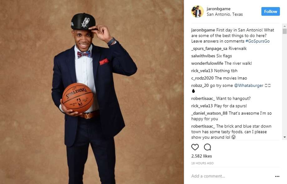 Spurs 59th draft pick Jaron Blossomgame has touched down in San Antonio and is looking for things to do. The following suggestions came from locals and Spurs fans.