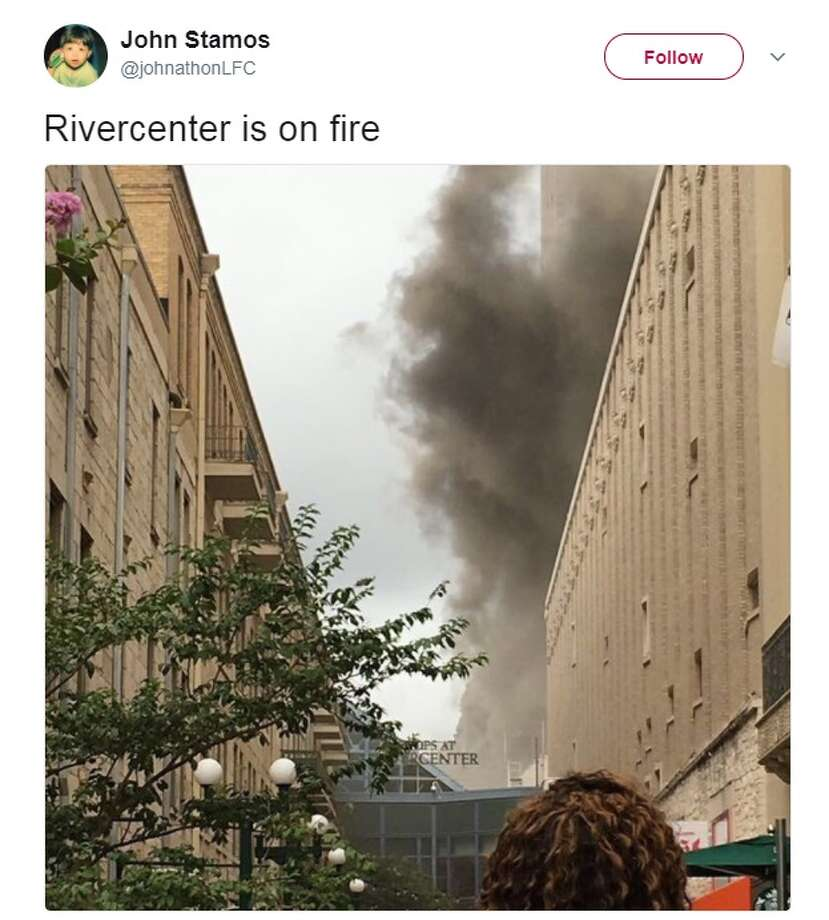 @jonathonLFC: Rivercenter is on fire Photo: Twitter.com