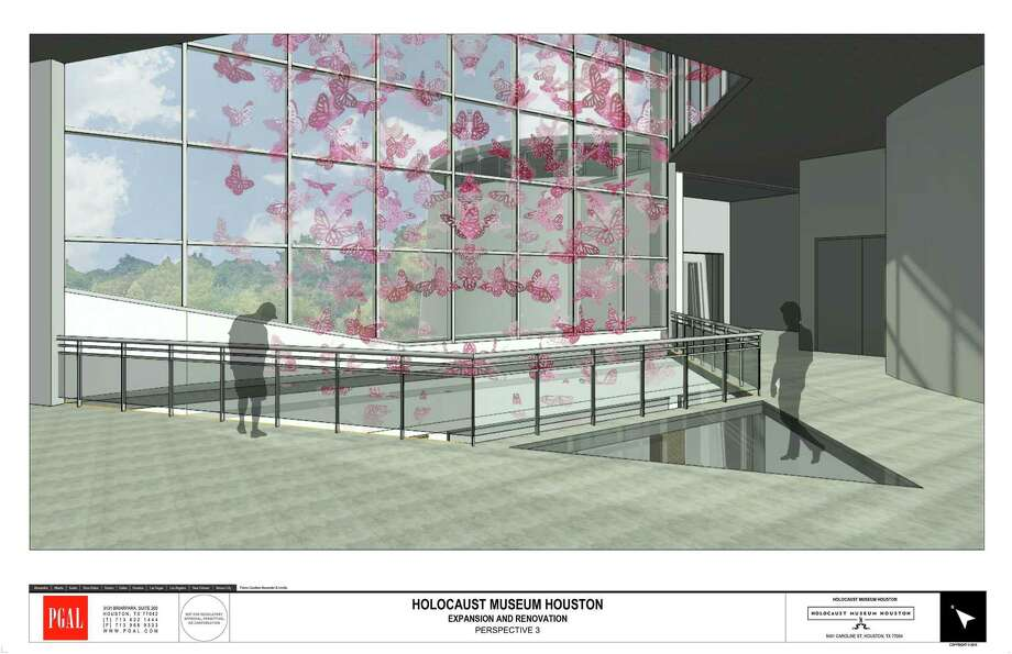 A rendering of light-filled interior space within the Holocaust Museum Houston's planned expansion. The project will more than double the museum's space, to 57,000 square feet. Photo: PGAL