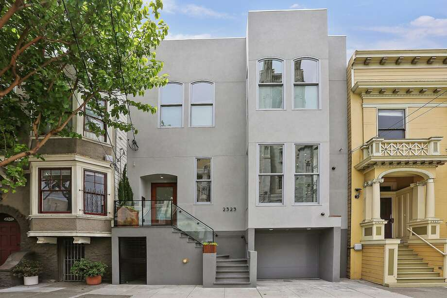 2323 Bush St. is a high-tech trilevel in Lower Pacific Heights available for $4.75 million. Photo: Open Homes Photography
