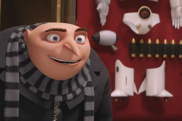 "This image released by Illumination and Universal Pictures shows character Gru, voiced by Steve Carell in a scene from ""Despicable Me 3.""  (Illumination and Universal Pictures via AP)"