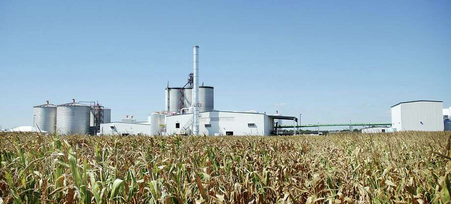 The Mid Missouri Energy ethanol plant rises out of the cornfields near Malta Bend, Mo. The plant takes about 20 percent of the 90 million bushels of corn grown in the area to produce ethanol. Legislation to lift a longtime summer ban on gasoline with a higher concentrations of ethanol was introduced by a bipartisan coalition of Midwestern lawmakers. Photo: Associated Press File Photo / SOUTHEAST MISSOURIAN