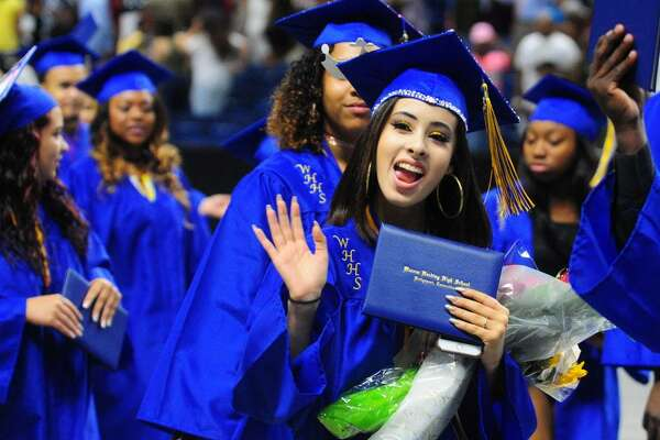 Warren Harding High School's Ninety First Annual Commencement held at the Webster Bank Arena in Bridgeport, Conn., on Tuesday June 20, 2017.