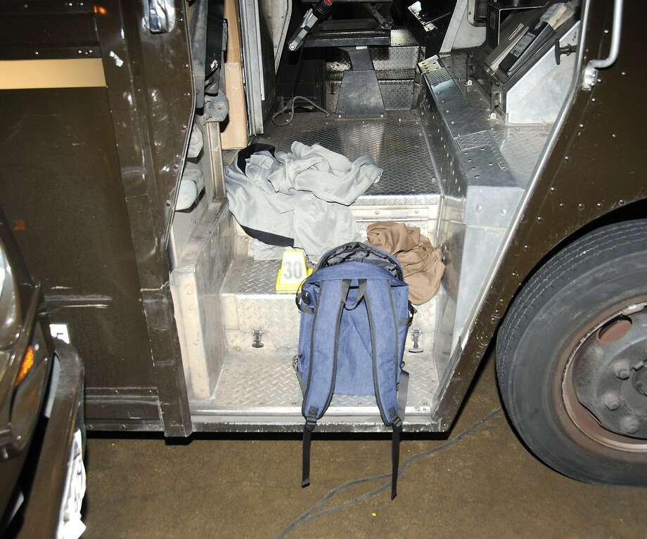A backpack with a box of bullets belonging to driver Jimmy Chanh Lam was found on the steps of a UPS truck inside the company's Potrero Hill distribution center after the deadly shooting attack he carried out June 14. Photo: San Francisco Police, Courtesy SFPD