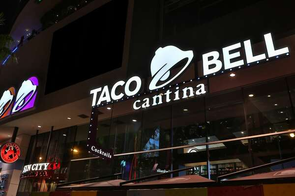 Promotional images of Taco Bell's flagship store, Las Vegas Cantina.