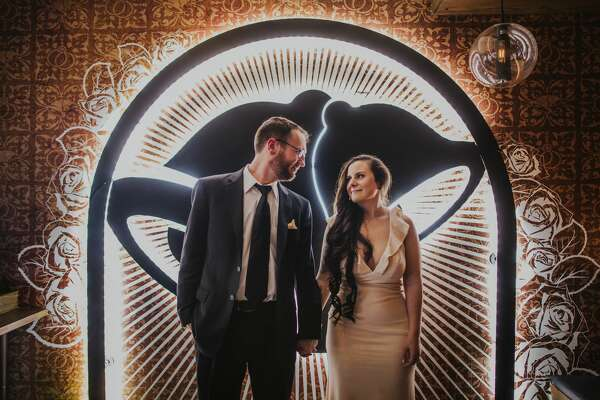Dan Ryckert and Bianca Monda won a national contest to become the first couple married at Taco Bell's flagship store, Las Vegas Cantina. The fast food chain will open the restaurant to more weddings, starting Aug. 7.