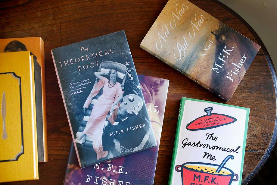Some of the books written by M.F.K. Fisher on a table in her bedroom-office at her Glen Ellen home, Last House. Photo: Liz Hafalia, The Chronicle