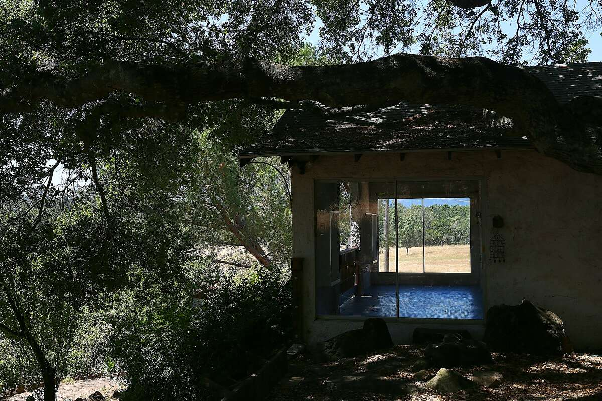 Looking through the back patio of the home of M.F.K. Fisher on Friday, June 22, 2017, at the Bouverie Preserve in Glen Ellen, Calif. Her small adobe was designed by her benefactor and neighbor David Bouverie where she worked, cooked, and entertained guests like Herb Caen, Alice Waters, James Beard and Julia Child.