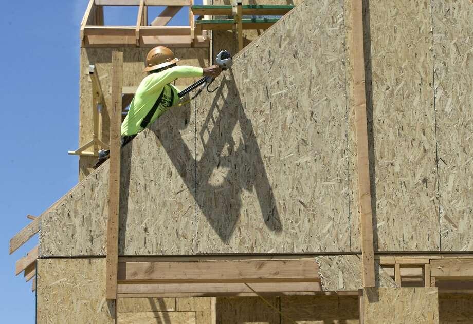 A home under construction in Sacramento. Photo: Rich Pedroncelli, Associated Press