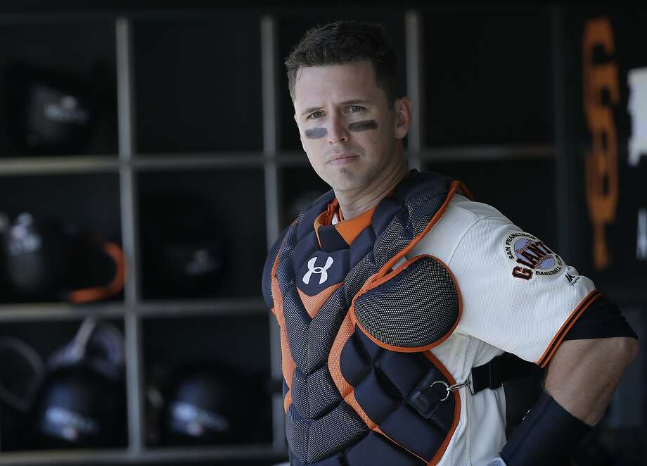 """San Francisco Giants catcher Buster Posey says many younger players are """"taking a more aggressive hack with two strikes, which is going to lead to more balls hit harder."""" Photo: Jeff Chiu, Associated Press"""