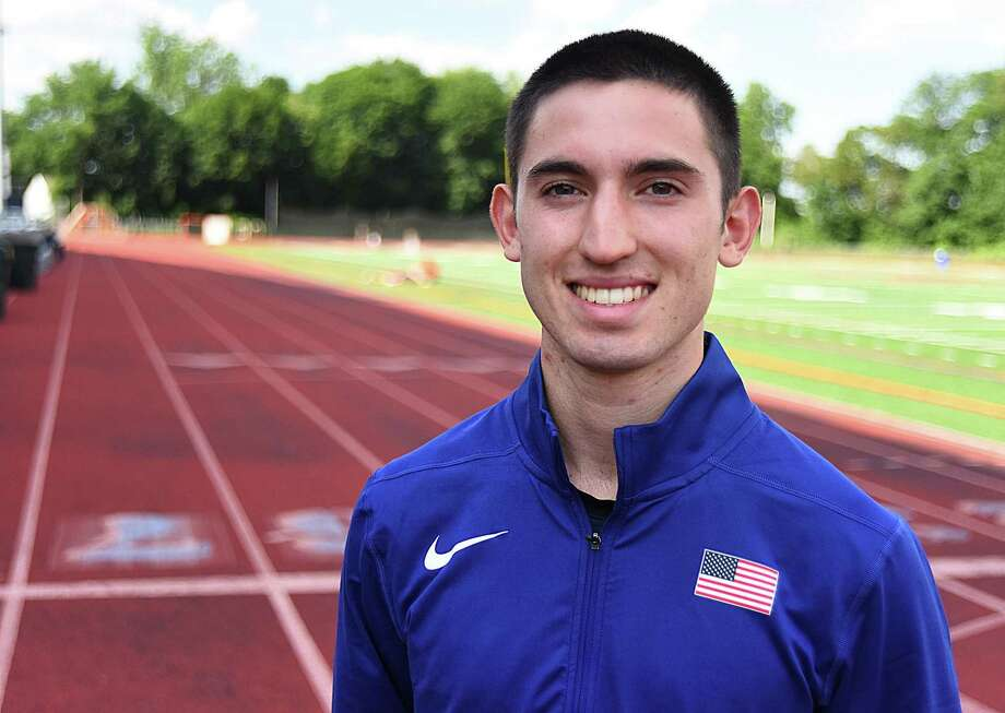 Norwalk resident Eric van der Els, a rising sophomore at the University of Connecticut, won the 2017 USTAF Junior National Championship in the 1,500-meter run on Saturday during a meet in Sacramento, Calif. With the win, the Brien McMahon product qualified for his first international meet, the Pan Am Junior championships in Lima, Peru, in July. Photo: John Nash / Hearst Connecticut Media / Norwalk Hour