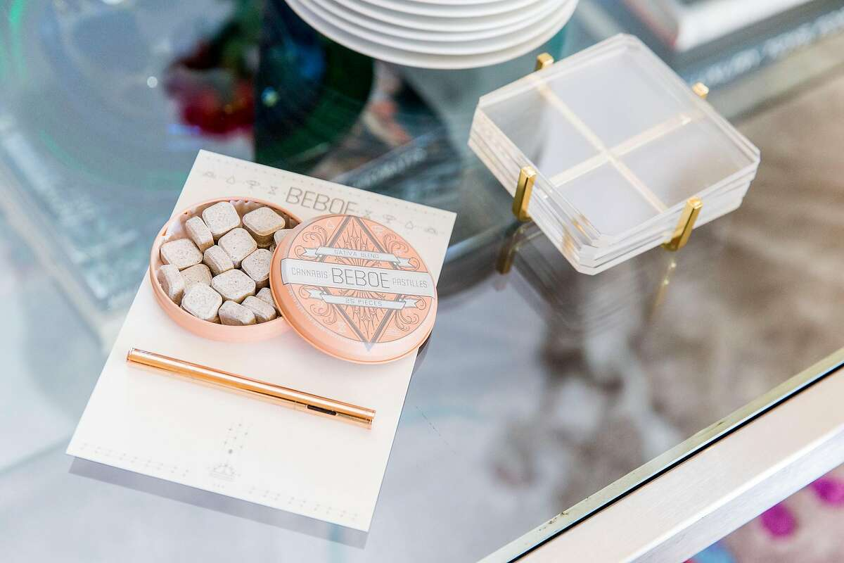 Beboe, a cannabis brand targeting the luxury market, launched in San Francisco on June 15, 2017, celebrating with a party in a Pacific Heights home. Its apple-spice pastilles (25 for $25) and vaporizer pen (disposable, 150 puffs, $60) are available at a few medical cannabis dispensaries in the Bay Area.