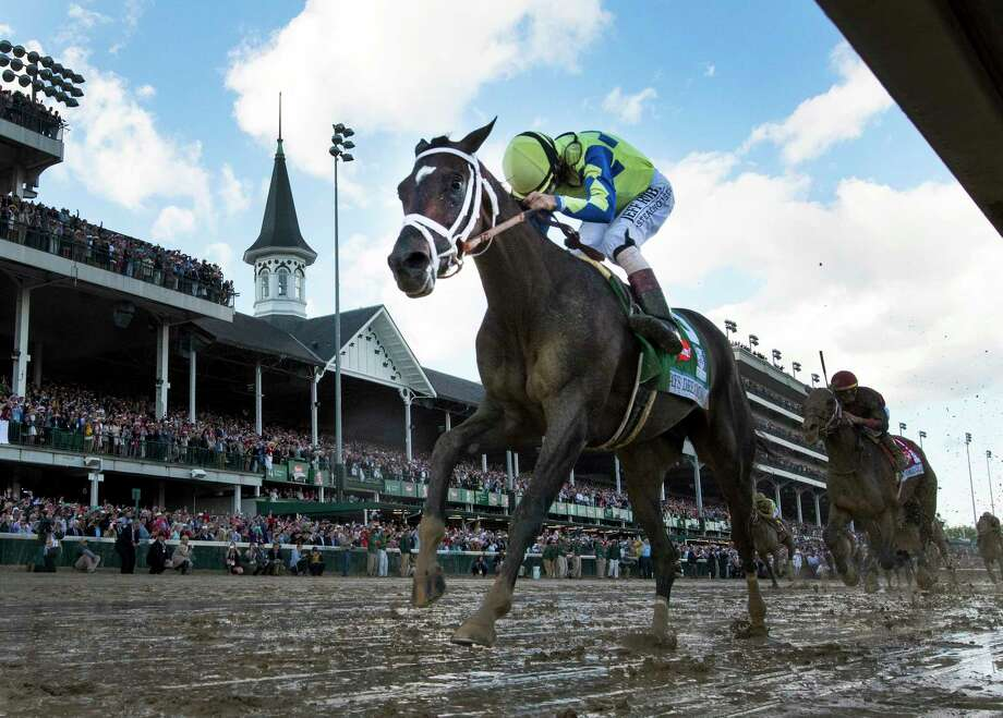 Jockey John Velazquez wins the 143rd Kentucky Derby May 6, 2017 on Always Dreaming at Churchill Downs in Louisville, Kentucky.  (Skip Dickstein/Times Union) Photo: SKIP DICKSTEIN