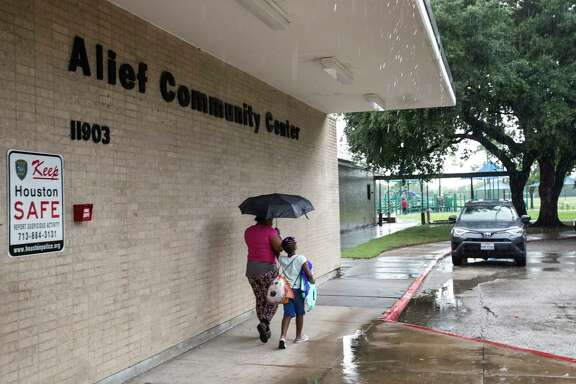 A bond package would build a facility to house the Alief Community Center, above, and a library.