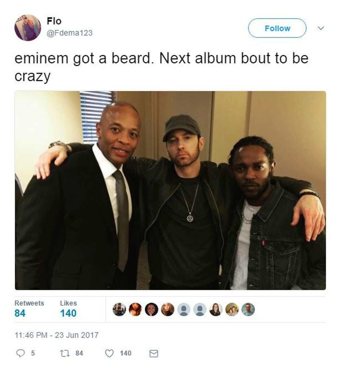 Eminem got a beard, next album about to be crazy.