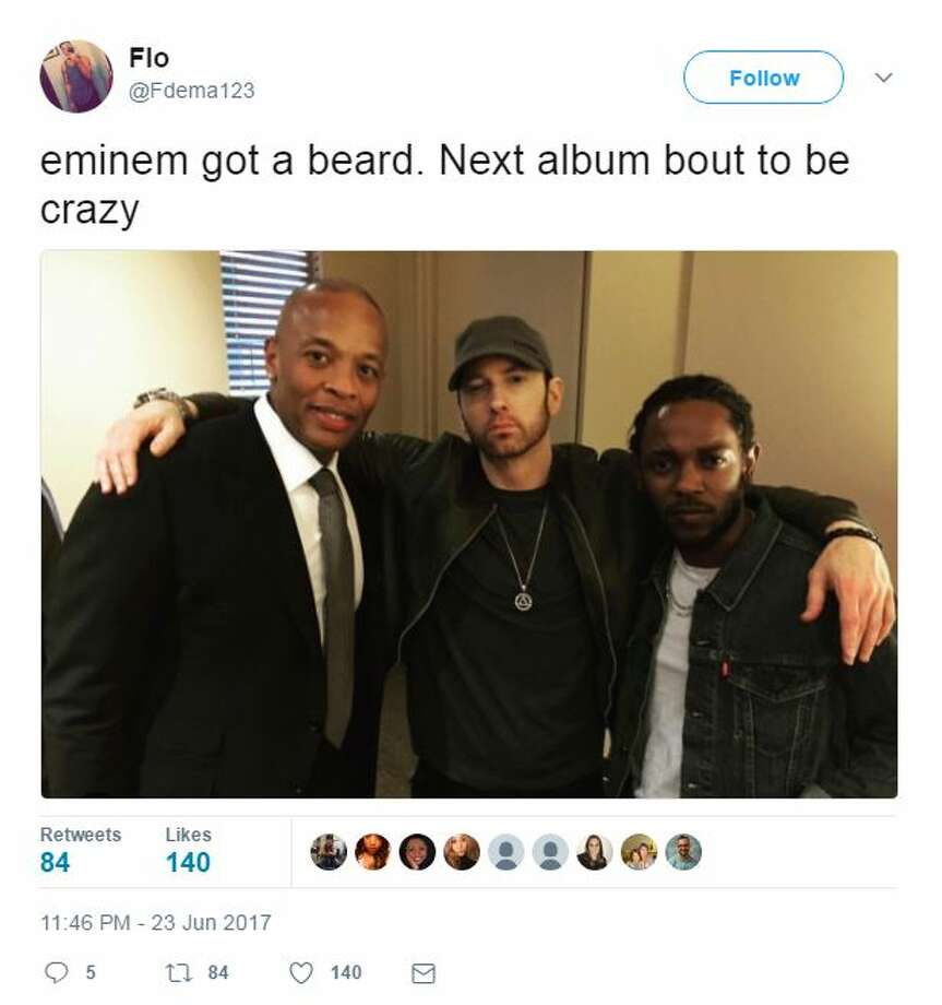 Eminem got a beard, next album about to be crazy. Photo: Twitter