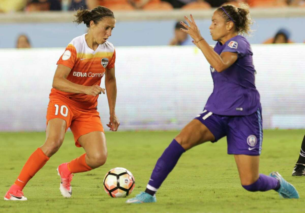 Things are looking up for the Dash now that forward Carli Lloyd (10) is on hand after starting the year playing in England. Lloyd scored her first goal last weekend for the Dash, who will be seeking their second consecutive victory on Wednesday night when the host the Boston Breakers.