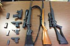 Authorities said they also seized seven firearms.