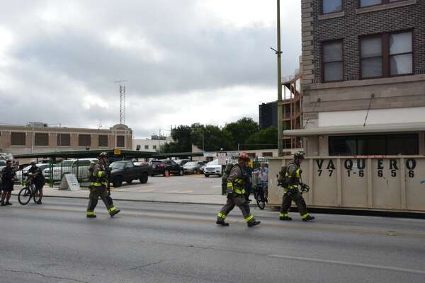 Firefighters responded to a gas leak and possible basement fire at the Premiere Best Western in downtown San Antonio on June 28, 2017, a day ahead of its planned grand opening.