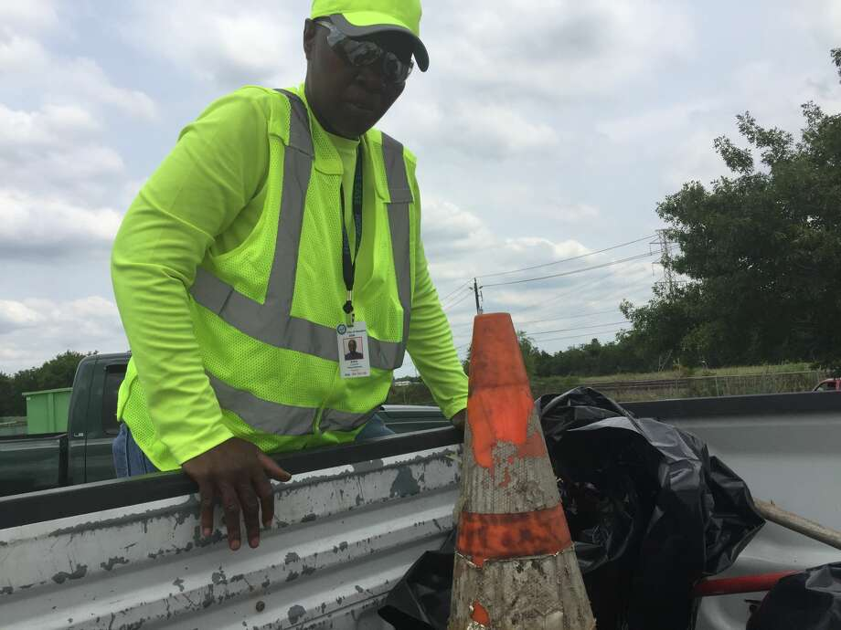 Cynthia Bailey said she started calling her council member to complain about trash in her neighborhood about a year ago. She now heads a cleanup crew as part of a pilot program. Photo: Leah Binkovitz