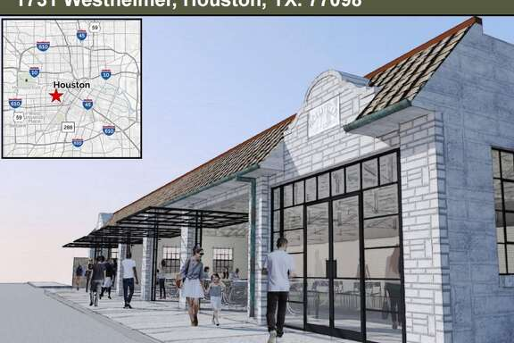 New renderings show plans for redevelopment of the Westheimer Flea Market, a 1929 building that's housed its current tenant since 1970.