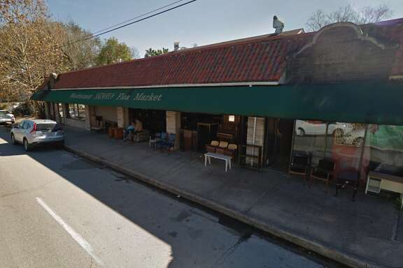 The Westheimer Flea Market is housed in a 1929 building originally constructed as a laundromat. New plans call for preservation of the storefront and original building but demolition of a larger structure tacked on behind.