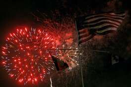The fireworks are scheduled to begin at 9 p.m. Tuesday at the Fourth of July celebration at Woodlawn Lake Park.