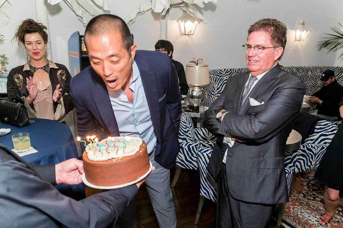 Clement Kwan, co-founder of Beboe, a luxury cannabis brand, celebrates both the launch of the brand in San Francisco dispensaries, and his 40th birthday at a party in a private home in Pacific Heights.