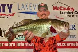 Julian Clepper came in first place in the CONROEBASS Thursday Night Big Bass Tournament with a weight of 8.34 pounds.