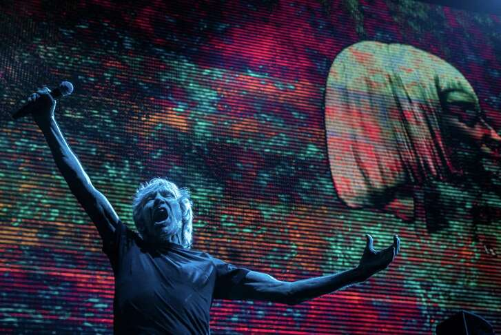 """Roger Waters is touring with his multimedia """"Us + Them"""" concert."""