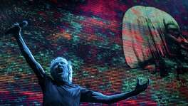 "Roger Waters is touring with his multimedia ""Us + Them"" concert."