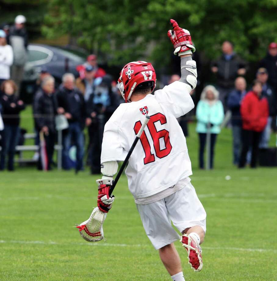 Harry Stanton, an NCHS class of '14 grad is a star for the Wesleyan lacrosse program. Photo: Stan Godlewski / Contributed Photo / New Canaan News contributed