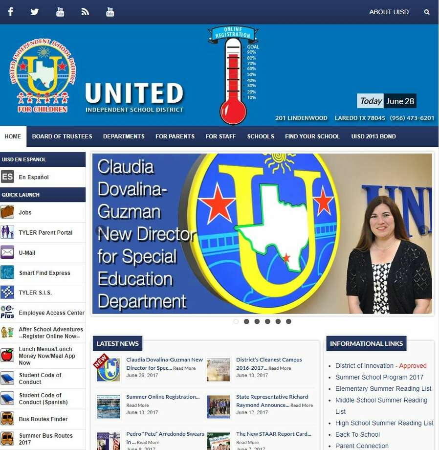 Lipsitt said United Independent School District's website is inaccessible to people who suffer from vision and fine motor impairment. Photo: LMTonline
