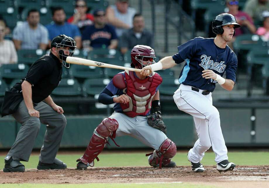 Corpus Christi Hooks outfielder Kyle Tucker (12) at bat during the Hooks minor league game at Whataburger Field, Sunday, June, 25, 2017.  ( Karen Warren / Houston Chronicle ) Photo: Karen Warren, Staff Photographer / 2017 Houston Chronicle
