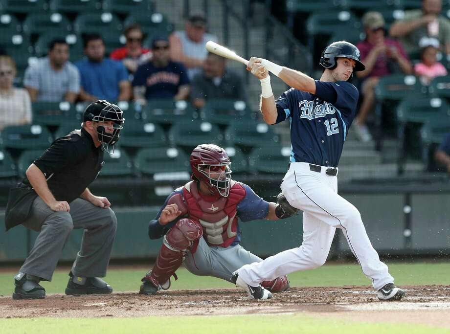 Kyle Tucker said he doesn't pay attention to his name being floated in trade rumors before the July 31 deadline. Hooks manager Rodney Linares said he'd be surprised if Tucker were traded. Photo: Karen Warren, Staff Photographer / 2017 Houston Chronicle