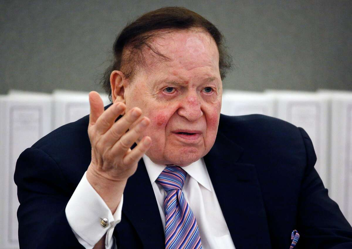 Las Vegas Sands Corp. Chairman and CEO Sheldon Adelson speaks in Las Vegas in May 2015.