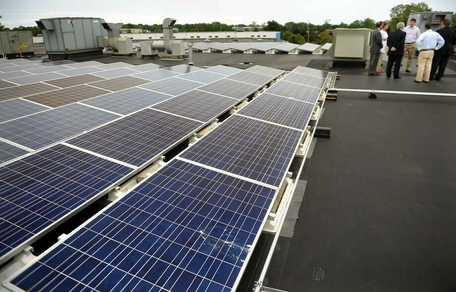 Encon installed a roof top solar system atop its facility at 1265 Woodend Road in Stratford several years ago. A company official said the solar market appears to be cooling down. Photo: Brian A. Pounds / Brian A. Pounds / Connecticut Post