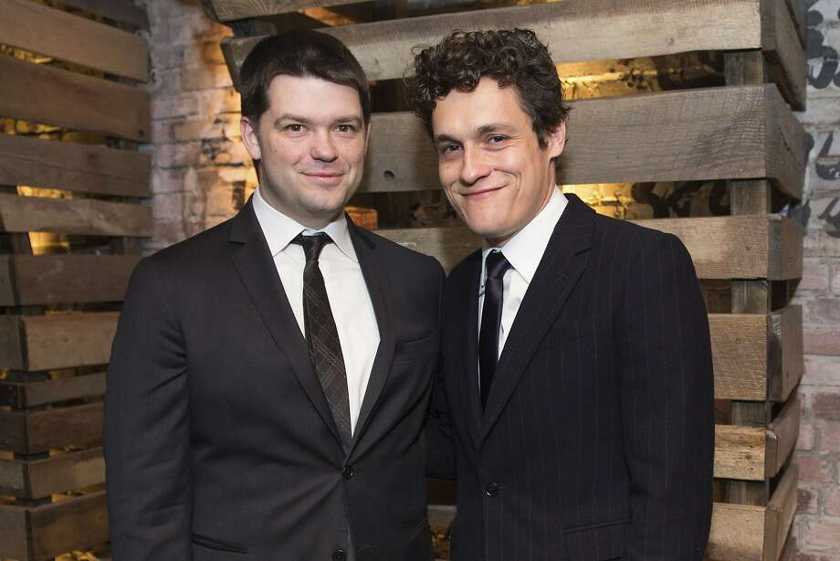 FILE - In this Jan. 5, 2015, file photo, Christopher Miller, left, and Phil Lord pose for a photo at the New York Film Critics Circle Awards at TAO Downtown, in New York. Lucasfilm president Kathleen Kennedy said Tuesday, June 20, 2017, that the Star Wars spinoff is parting ways with directors Phil Lord and Christopher Miller due to different creative visions on the film. Kennedy said a new director would be announced soon. (Photo by Scott Roth/Invision/AP, File) Photo: Scott Roth, Scott Roth/Invision/AP