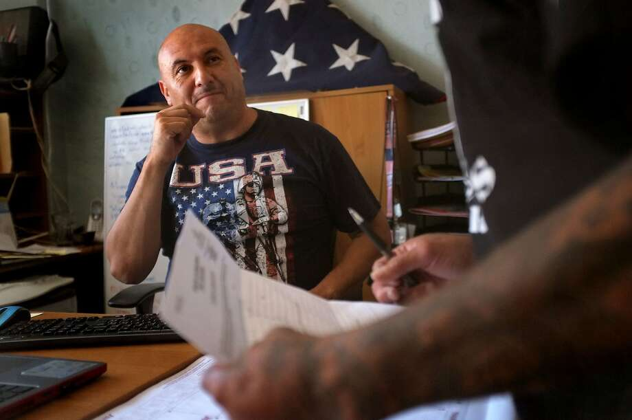 Former Army paratrooper Hector Barajas-Varela started the Deported Veterans Support House in Tijuana in 2013. Photo: Photo By David Maung For CALmatters, David Maung/CALmatters