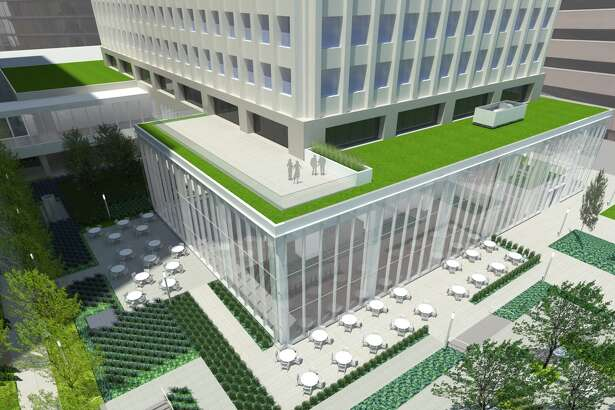 A new rooftop terrace will be part of a nearly $50 million rennovation at One Allen Center