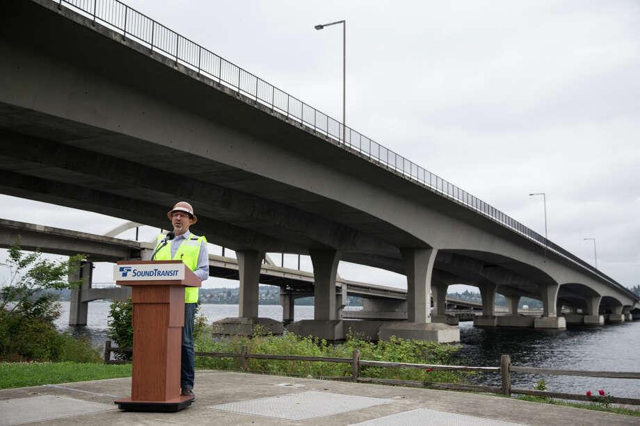 Chief Executive Officer of Sound Transit, Peter Rogoff, speaks before a tour of the inside a pontoon below the center, public transportation lane of the I-90 bridge on Wednesday, June 28, 2017. Photo: GRANT HINDSLEY, SEATTLEPI.COM / SEATTLEPI.COM